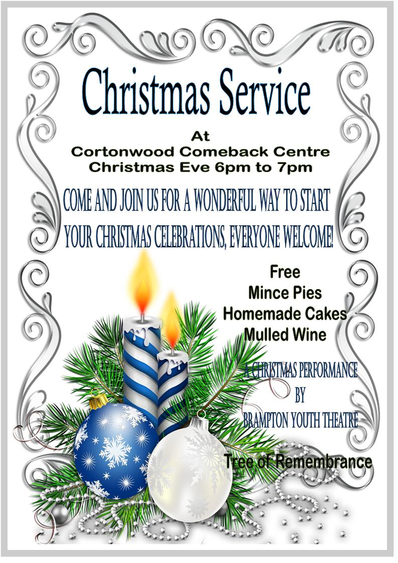 Christmas service poster 2018